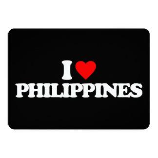 I LOVE PHILIPPINES 13 CM X 18 CM INVITATION CARD