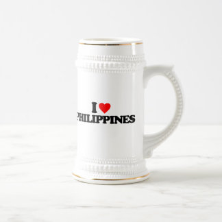 I LOVE PHILIPPINES BEER STEINS