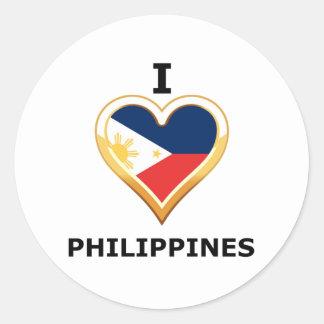 I love Philippines Classic Round Sticker