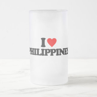 I LOVE PHILIPPINES FROSTED GLASS MUG