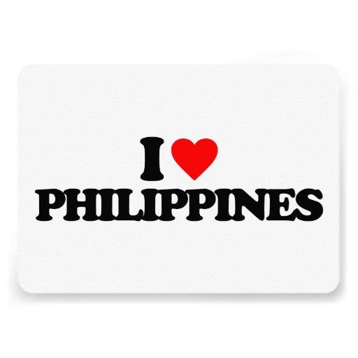 I LOVE PHILIPPINES CUSTOM ANNOUNCEMENTS
