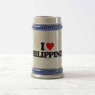 I LOVE PHILIPPINES BEER STEINS