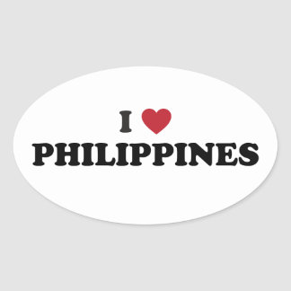 I Love Philippines Stickers
