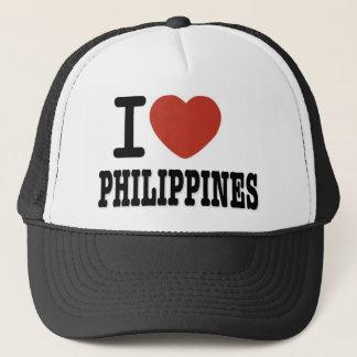 I LOVE PHILIPPINES TRUCKER HAT