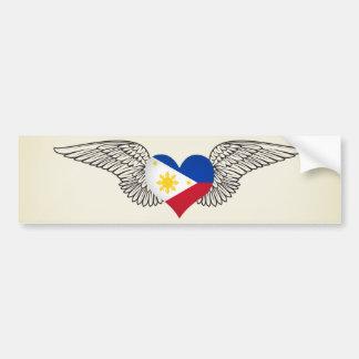I Love Philippines -wings Bumper Sticker