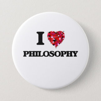 I Love Philosophy 7.5 Cm Round Badge