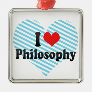 I Love Philosophy Christmas Ornament