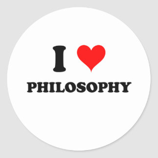 I Love Philosophy Classic Round Sticker