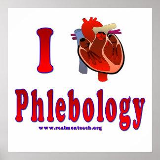 I Love Phlebology Poster