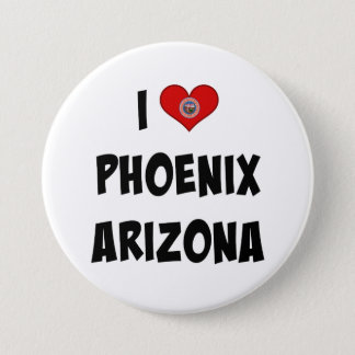 I Love Phoenix, Arizona 7.5 Cm Round Badge