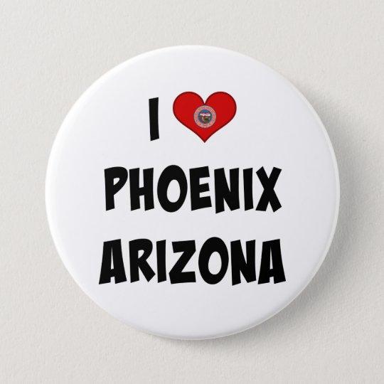I Love Phoenix, Arizona 7.5 Cm Round Badge