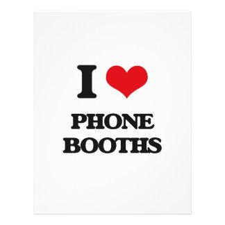 I Love Phone Booths Flyer Design