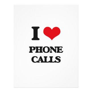 I Love Phone Calls Flyer