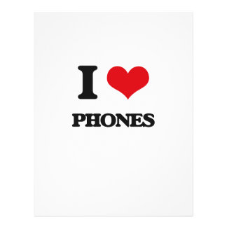 I Love Phones Custom Flyer