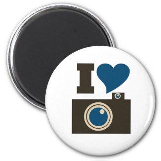 I Love Photography 6 Cm Round Magnet