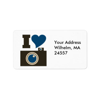 I Love Photography Address Label