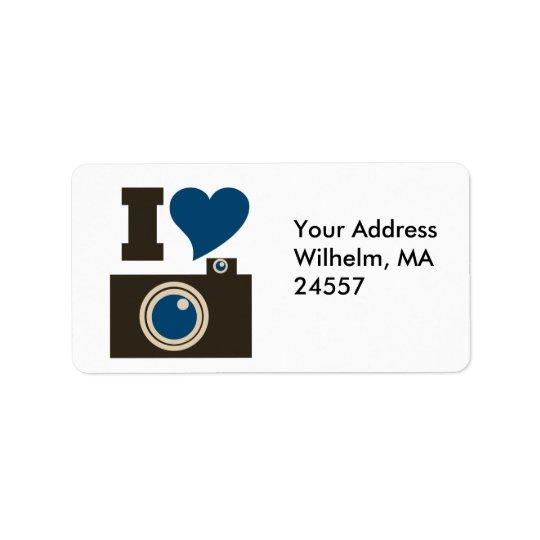 I Love Photography Address Label