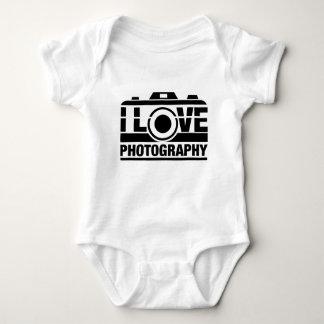 I Love Photography Baby Bodysuit