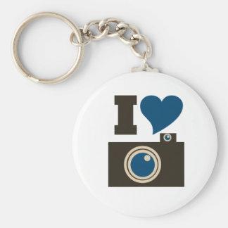 I Love Photography Basic Round Button Key Ring