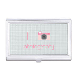 I Love Photography Business Card Holder