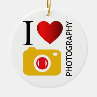 I love photography christmas ornament