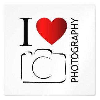 I love photography magnetic invitations