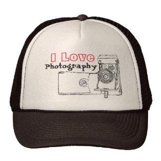 I Love Photography Retro Camera Cap