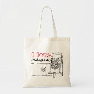 I Love Photography Retro Camera Tote Bag