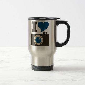 I Love Photography Stainless Steel Travel Mug