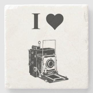 I love Photography Stone Beverage Coaster
