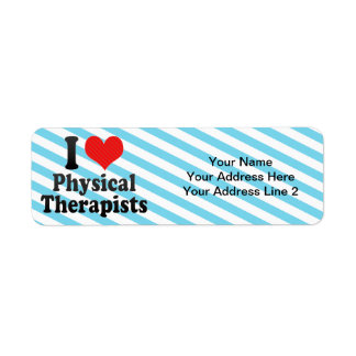 I Love Physical Therapists Return Address Label