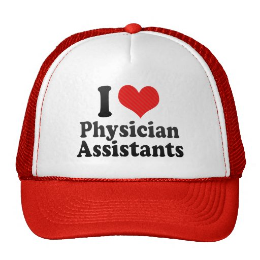 I Love Physician Assistants Mesh Hat