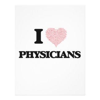 I love Physicians (Heart made from words) 21.5 Cm X 28 Cm Flyer