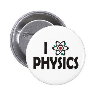I Love Physics Button