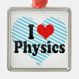 I Love Physics Christmas Ornament