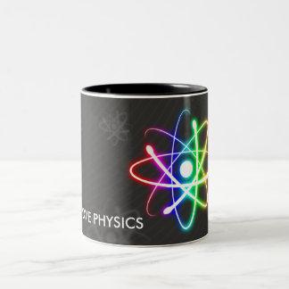 I LOVE PHYSICS   Geek Two-Tone Coffee Mug