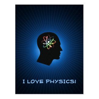 I LOVE PHYSICS - Greetings Postcard