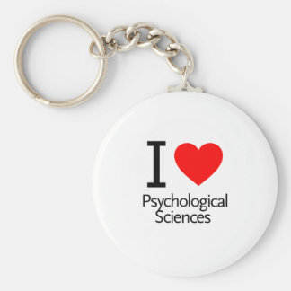 I Love Physiological Sciences Keychains