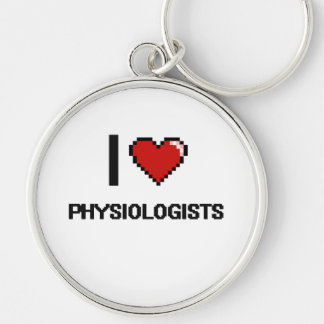 I love Physiologists Silver-Colored Round Key Ring