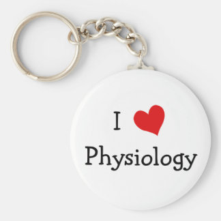 I Love Physiology Basic Round Button Key Ring