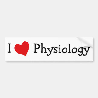 I Love Physiology Bumper Sticker