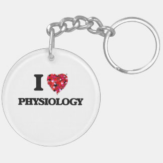 I Love Physiology Double-Sided Round Acrylic Key Ring