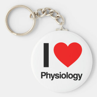 i love physiology key chain
