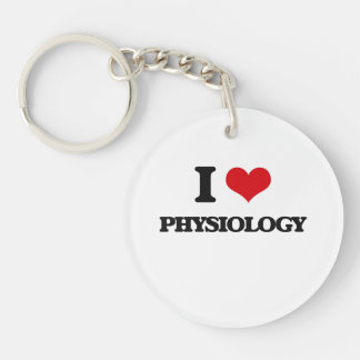 I Love Physiology Single-Sided Round Acrylic Key Ring