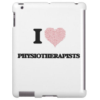 I love Physiotherapists (Heart made from words) iPad Case
