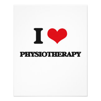 I Love Physiotherapy 11.5 Cm X 14 Cm Flyer