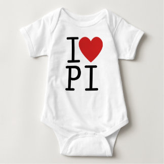 I LOVE PI BABY BODYSUIT