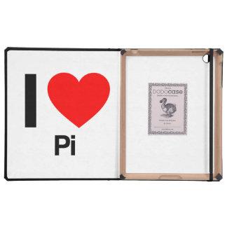 i love pi iPad folio cover
