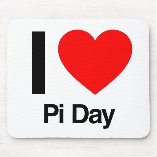 i love pi day mousepads
