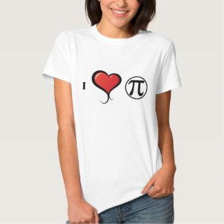 I Love PI Math Women's T-Shirt, White Tshirt